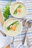 Creamy vegetable soup Stock Photos