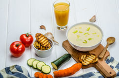 Creamy Vegetable Soup Stock Photography
