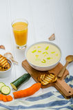 Creamy Vegetable Soup Stock Image