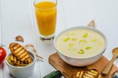 Creamy Vegetable Soup Stock Photos