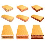 Creamy wafer with different flavors 3d realistic vector set Stock Images