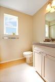 Creamy warm bathroom interior Royalty Free Stock Image