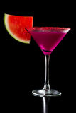Creamy watermelon martini Stock Image