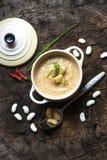 Creamy white bean soup Stock Photos