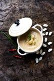 Creamy white bean soup Royalty Free Stock Photography