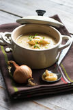 Creamy white bean soup Royalty Free Stock Image