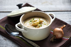 Creamy white bean soup Royalty Free Stock Images