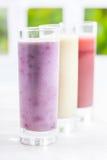 Creamy yoghurt berry smoothie Stock Photography