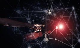 Creando le tecnologie wireless moderne come mezzi di communucation Immagini Stock