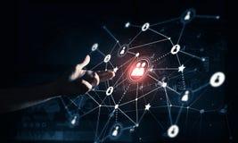 Creando le tecnologie wireless moderne come mezzi di communucation Fotografia Stock