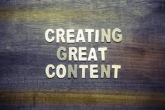 Crear el gran contenido foto de archivo