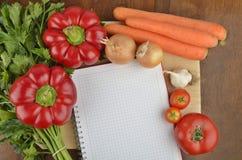 Crear una receta Foto de archivo libre de regalías