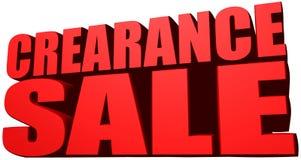 Crearance sale Stock Photos