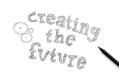 Creare il concetto futuro Fotografia Stock Libera da Diritti