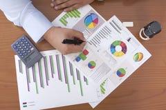 Creare un business plan Fotografie Stock