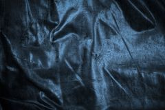 Crease blue canvas in light and shadow. Crease blue canvas light and shadow stock photo