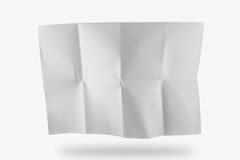 Crease paper. As pattern on white background royalty free stock photo