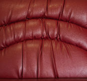 Crease of red leather Stock Photos