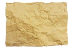 Creased бумажная предпосылка текстуры Стоковое Изображение