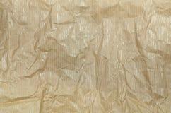 Creased жиропрочная бумага, деталь Стоковые Фотографии RF