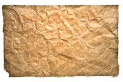 Creased antique paper Royalty Free Stock Photography