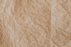 Creased brown paper texture background Stock Photos