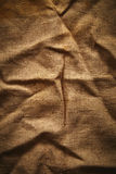 Creased burlap Royalty Free Stock Image