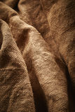 Creased burlap Royalty Free Stock Images
