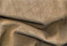 Creased leather. Creased light leather for background Royalty Free Stock Image