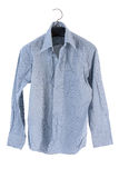 Creased men shirt isolate on white background Royalty Free Stock Image