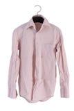 Creased men shirt isolate on white background Stock Photo