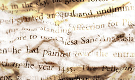 Creased page. Close-up of creased page of a book Royalty Free Stock Images