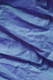 Creased blue paper  Stock Photography