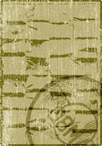 Creased paper with stamp Royalty Free Stock Images