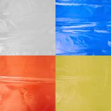 Creased plastic polyethylene film Stock Photos