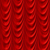 Creased red cloth material fragment Royalty Free Stock Image