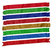 Creased Semi Diagonal Ribbons Royalty Free Stock Image