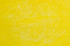Creased yellow tissue paper background Royalty Free Stock Photos