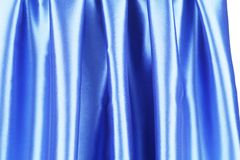 Creases in blue fabric. Royalty Free Stock Photography