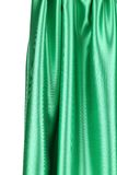 Creases in green fabric. Close up. Royalty Free Stock Photos