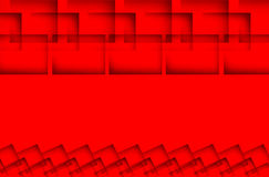 Create abstract square. On red Stock Photo