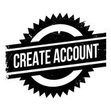 Create account stamp Royalty Free Stock Photos