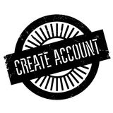 Create account stamp Royalty Free Stock Photography