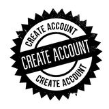 Create account stamp Stock Photography