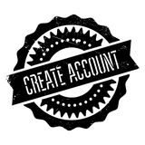 Create account stamp Stock Image