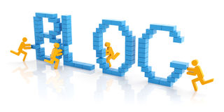Create a blog Royalty Free Stock Image