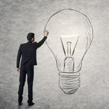 Create a bright idea Royalty Free Stock Image