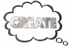 Create Build Develop New Idea Word Thought Cloud Royalty Free Stock Images