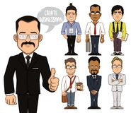 Create businessman characters. Part 2 Stock Photography