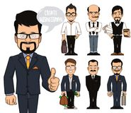 Create businessman characters Stock Photography